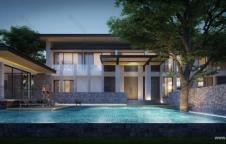 รับสร้างบ้าน Modern Luxury 5ห้องนอน 9ห้องน้ำ 1,752 ตรม