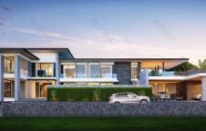 รับสร้างบ้าน Modern Luxury 5ห้องนอน 7ห้องน้ำ 1,373 ตรม