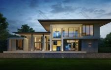 รับสร้างบ้าน 492 ตรม Modern Luxury 4ห้องนอน 5ห้องน้ำ