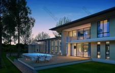 รับสร้างบ้าน Modern Luxury 5ห้องนอน 6ห้องน้ำ 1,009 ตรม