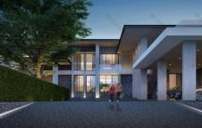 รับสร้างบ้าน Modern Luxury 5ห้องนอน 6ห้องน้ำ 900 ตรม