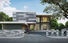 แบบบ้านโมเดิร์น 6ห้องนอน 7ห้องน้ำ 525ตรม รับสร้างบ้าน 12.6ล้าน