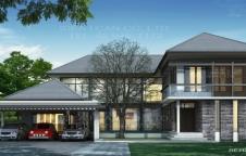 รับสร้างบ้านรีสอร์ท RE-H2-505.505 4ห้องนอน 6ห้องน้ำ 505ตรม