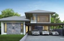 RE-H2-505.420 รับสร้างบ้านรีสอร์ท 4ห้องนอน 5ห้องน้ำ 420ตรม สระน้ำ