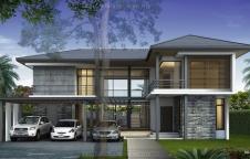 รับสร้างบ้านรีสอร์ท 4ห้องนอน 4ห้องน้ำ 300ตรม RE-H2-505.300