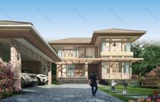 แบบบ้าน Resort Style 4ห้องนอน 4ห้องน้ำ 270ตรม. RE-H2-501.270