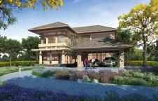 รับสร้างบ้าน Resort Style 4ห้องนอน 4ห้องน้ำ 300ตรม. RE-H2-501.300