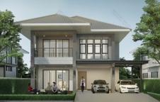 แบบบ้านสองชั้น 3 ห้องนอน 3 ห้องน้ำ 229.02 ตร.ม. Tropical Style