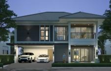 แบบบ้านสองชั้น 4 ห้องนอน 3 ห้องน้ำ 247.38 ตร.ม. Tropical Style