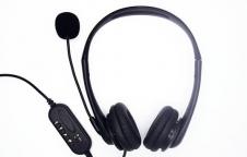 ชุดหูฟังมีไมค์แบบหูคู่ เชื่อมต่อ USB