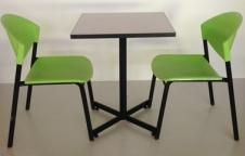 ชุดโต๊ะอาหาร 1 ชุด ประกอบด้วย โต๊ะ 1ตัว เก้าอี้โพลี 2 ตัว