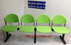 เก้าอี้โพลีแถวโครงเหล็ก ที่นั่งและพนักพิง โพลีโพพีรีน