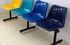 เก้าอี้โพลีแถว โครงขาเหล็ก
