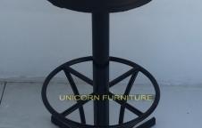 เก้าอี้บาร์โครงเหล็กหนา โครงพ่นสีฝุ่นอิพ๊อกซี่สีดำ