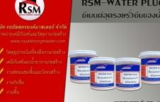 วอเตอร์ปลั๊ก RSM WATERPLUG ซีเมนต์อุดรอยรั่วซึมของน้ำ ปูนแห้งเร็ว