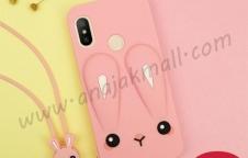 M4841 เคสตัวการ์ตูน Xiaomi Mi A2 Lite สีชมพู