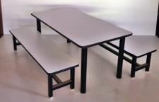 ชุดอนุบาลแคนทีน  ชุดโต๊ะอนุบาล 6 ที่นั่งขนาด 120 x 60 xสูง 50 ซม.