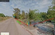 ขายที่ดินเปล่า (11-0-41)  ที่ดินติดถนนทั้งด้านหน้าและด้านหลัง