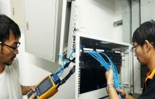 เดินสายสัญญาณ Lan และ สาย Fiber Optic