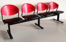เก้าอี้แถว โครงขาเหล็กแป๊ปรูปไข่ ขาเหล็กหนา 1.2มิล