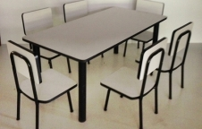 ชุดโต๊ะอนุบาล 1ชุดมีโต๊ะขนาด 120*60 สูง 50 ซม.เก้าอี้ 6 ตัว