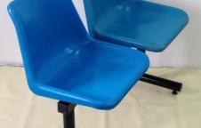 เก้าอี้โพลีแถว  โครงสร้างเหล็กแป๊ปกลม 2นิ้ว หนา1.2มิล