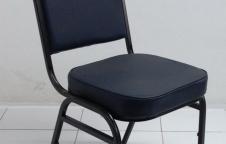เก้าอี้จัดเลี้ยงรุ่นหลังพิงใหญ ขาเหล็ก แป๊ปเหลี่ยมหนา 1.2 มิลเต็ม