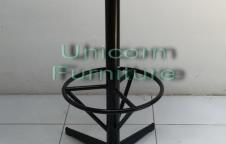 เก้าอี้บาร์โครงเหล็กหนา โครงพ่นสีฝุ่นอิพ๊อกซี่สีดำ เคลือบกันสนิม