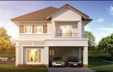 บ้าน สร้างจาก อิฐมอญทั้งหลัง ตัวกลางบ้านไม่มีเสา
