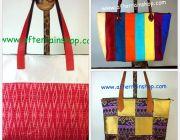 กระเป๋าผ้าไหม Thai silk ผ้ามัดหมี่ ผ้าต่อ งานฝีมือ handmade