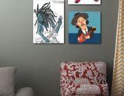 แต่งห้องนอนแนวๆด้วยภาพวาดอาร์ตๆแบบการ์ตูน จาก Welcome Home ครับ