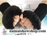 ถุงมือแบบสั้น-ยาว ถุงมือไหมพรม ถุงมือกันหนาว ถุงมือแบบหนา ปลอกมือสไตล์เกาหลี ถุงมือขนสัตว์ขนเฟอร์
