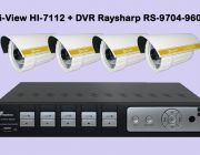 Promotion ชุดกล้องวงจรปิด HD Hi-View 4 จุด