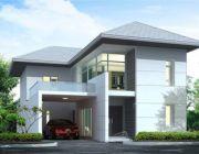 แบบบ้านสองชั้น 3 ห้องนอน 3 ห้องน้ำ แบบบ้าน Tropical style ที่ดิน 56 ตรว