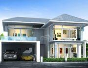แบบบ้านสองชั้น 4 ห้องนอน 3 ห้องน้ำ ขนาดที่ดิน 43 ตร.ว. Tropical Style