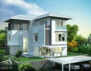 Tropical Style แบบบ้านสามชั้น 7 ห้องนอน 5 ห้องน้ำ พร้อมบริการรับเหมาก่อสร้าง ขนา