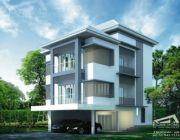 Tropical Style แบบบ้านสามชั้น 8 ห้องนอน 6 ห้องน้ำ รับเหมาก่อสร้าง