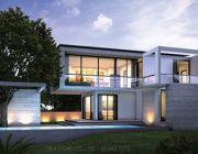 แบบบ้านสไตล์โมเดิร์น บ้านพักอาศัยสองชั้น แบบบ้านสองชั้น พื้นที่ 250 ตรม 3 ห้องนอ