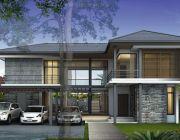 แบบบ้าน Modern 91000 แบบบ้านสองชั้น พื้นที่ 260 ตรม 4 ห้องนอน 4 ห้องน้ำ
