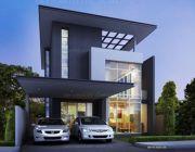 แบบบ้าน Modern Style แบบบ้านสามชั้น พื้นที่ 350 ตรม 3 ห้องนอน 3 ห้องน้ำ