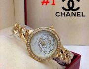 พร้อมส่ง มาใหม่ นาฬิกาข้อมือ Chanel หน้าปัดล้อมเพชร หน้าปัดลายดอกไม้ ตัวเรือนมี