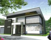 KornArch: รับออกแบบบ้านโมเดิร์นทาวน์เฮ้าส์สำนักงานรีสอร์ทอาคารพาณิชย์