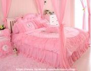 ขายผ้าปูที่นอนสไตล์หรูหรา เจ้าหญิง น่ารัก ฟรุ้งฟริ้ง สวยงาม ทุกแนวราคาคุ้มสุดสุด