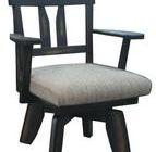 เก้าอี้ไม้ยางพารา หมุนได้ DPC-087