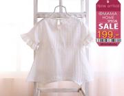 เสื้อขาวผ้าฝ้าย สินค้ามาใหม่ พร้อมส่ง