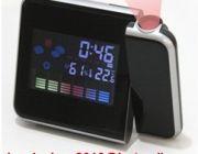 นาฬิกาโปรเจคเตอร์ บอกสภาพอากาศ อุณหภูมิความชื้นสัมพัทธ์ สามารถฉายเวลาไปที่ผนัง ห