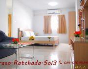Praso รัชดาซอย 3เดิน 5 นาทีจาก MRTพระราม 9ห้องพักระดับโรงแรม รายเดือนรายวันราค