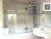 รับติดตั้งกระจกกั้นห้องน้ำกระจกนิรภัย Tempered Glass หนา10mm