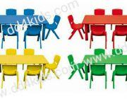 โต๊ะนักเรียน 6 ที่นั่ง โครงเหล็กผิวหน้าพลาสติกPPEเคลือบกันรอย ลดพิเศษ
