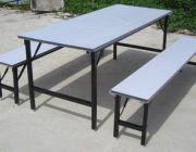 โต๊ะแคนทีน โต๊ะโรงอาหาร โต๊ะศูนย์อาหาร หน้าพื้น + ม้านั่ง ทนร้อน ทนน้ำ เช็ดทำค